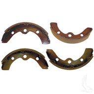 Brake Shoes, SET OF 4, E-Z-Go 87-96, Club Car DS 95+, Precedent, Yamaha G1/G2/G8/G9 82-93