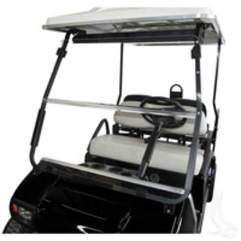 Windshield, Street Legal DOT AS4 Clear 2 Piece, Club Car 00+