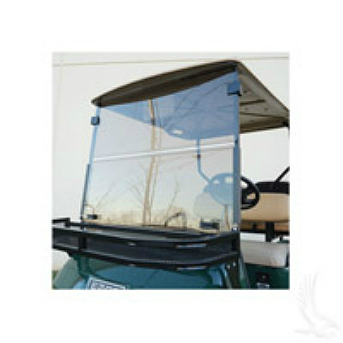 Windshield, Heavy Duty Impact Resistant Clear 2 Piece, Club Car Precedent