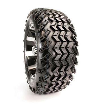 18x9.50-8, 4-ply, All Terrain Sahara  with Silver Steel Wheels