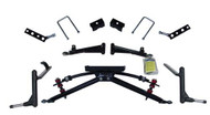 "Jakes 6"" Double A-Arm Lift Kit for Club Car DS 84-2001.5+ w/ Metal Caps"