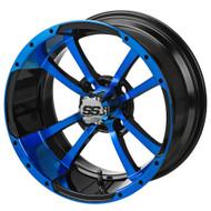 LSC Maltese Cross SS Blue/Black 14X7 3:4 Offset for Club Car, EZ-GO and Yamaha Golf Carts