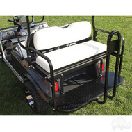 RHOX Super Saver Steel Rear Flip Seat Club Car Precedent White