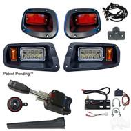 LED Light Kit, E-Z-Go TXT 14+ (Standard Switch, Plunger Brake Switch)