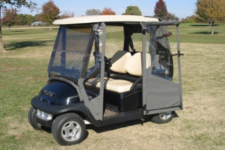 DoorWorks Hinged 3 Sided 2 Passenger Sunbrella Golf Cart Enclosure