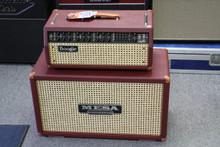 MESA BOOGIE MARK V HEAD WITH  2X12 CAB IN BRITISH CABERNET & WICKER TGS CUSTOM DESIGN