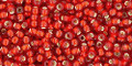Toho Seed Beads 11/0 Rounds Silver-Lined Frosted Ruby