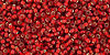 Toho Seed Beads 15/0 Rounds Silver Lined Frosted Ruby