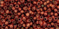 Toho Seed Beads 11/0 Rounds Permanent Finish Silver lined Milky Pomegranate