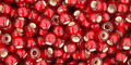 Toho Seed Beads 8/0 Rounds Silver lined Frosted Ruby 8 gram tube 1.07