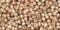 Toho Seed Beads 11/0 Round #365 Permanent Finish Galvanized Rose Gold 20g