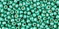Toho Beads 11/0 Round Permanent Finish Galvanized Green Teal 8g