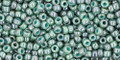Toho Beads 11/0 Round #377 Marbled Opaque Turquoise Blue 50 gram