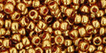 Toho Seed Beads 8/0 Round #142 Gold Lustered Transparent Pink 20 gram