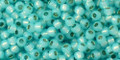 Toho Beads 11/0 Round Permanent Finish Silver Lined Milky Aqua 8g