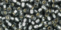 Toho Seed Beads 8/0 Round #155 Silver Lined Gray 50 gram pack