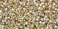 Toho Seed Beads 15/0 Rounds Inside-Color Crystal/Gold Lined 50g