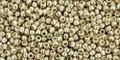 Toho Beads 15/0 Rounds #18 Permanent Finish Galvanized Aluminum 50g