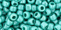 Toho Seed Beads 6/0 Round Opaque Lustered Turquoise 8 Gram Tube