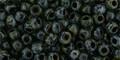 Toho Bulk Beads 6/0 Rounds #61 Hybrid Jet Picasso 250 Factory Pack.