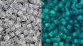 Toho Bulk Beads 8/0 Round #185 Gray Crystal Bright Green Glow 250 gram