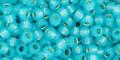Toho Seed Beads 8/0 Round Silver Lined Milky Aqua 8 gram tube