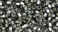 Toho Beads 8/0 Round #186 Square-Hole Silver Lined Black Diamond 20g