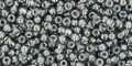 Toho Seed Beads 11/0 Round #406 In-Gray Gun Metal Lined 20 gram pack