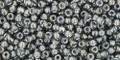 Toho Seed Beads 11/0 Round #406 In-Gray Gun Metal Lined 50 gram pack