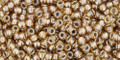 Toho Seed Beads 11/0 Round #407 Silver Lined Pale Amber 50 gram pack