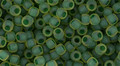 Toho Seed Beads 8/0 Round #190 In- Frosted Jonquil Emerald Lined 50 gram