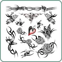 Silk Line Body Art Temporary Tattoos Tribal Art