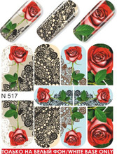 enVogue Simply Decals Red Roses/Black Lace N517
