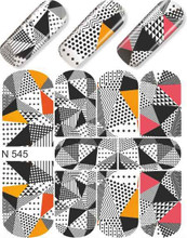 enVogue Simply Decals Black and White Abstract Triangles N545