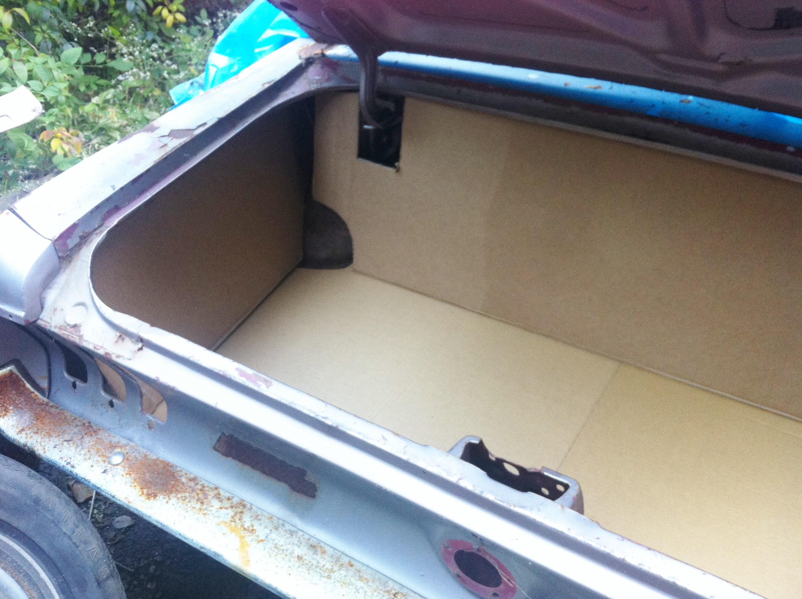 1967 68 Mustang Coupe And Convertible Trunk Panels