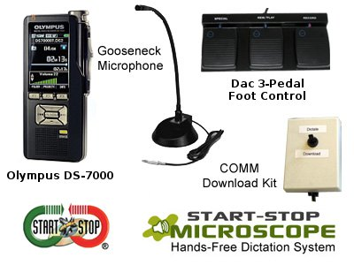 The Start-Stop Microscope Hands-Free Dictation System