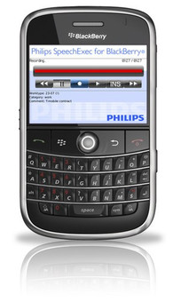 Philips LFH7455 Mobile Recorder for BlackBerry.