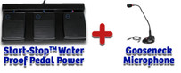 Start-Stop Foot Pedal Control System with WATERPROOF Pedal with Pedal Power Software - Model #30495