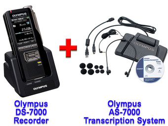 Olympus DS-7000 + Olympus AS-7000 Dictation and Transcription Bundle