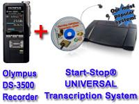 Olympus DS-3500 + Start-Stop® UNIVERSAL Transcription System Bundle