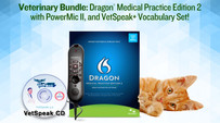 Veterinary Bundle: Dragon Medical Practice Edition 2 with PowerMic II, and VetSpeak (Kitten NOT Included. Please visit your local animal shelter to rescue one of those.)