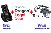 Power Legal Manual Transcription Bundle Option Dragon Legal Group 15 + DS-7000 + Olympus AS-7000 Transcription Kit