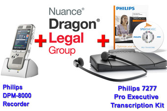 Legal Package: Dragon Legal Group 14 + Philips DPM-8000 + Philips 7277 Transcription Kit Bundle