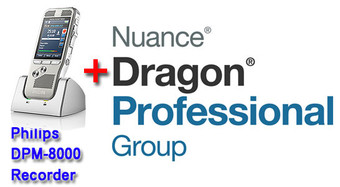 Professional Package: Philips DPM-8000 + Dragon Professional Group 14 Bundle (71066)