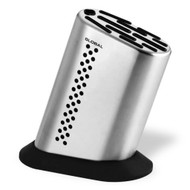 Global 11 Slot Stainless Steel Knife Block (Dots)