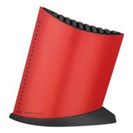 Global Red Ship Shape 10 Slot Knife Block