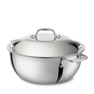 All Clad Stainless Steel 5.5 Qt Dutch Oven w/ Lid