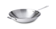 """All Clad Stainless Steel 14"""" Open Stir Fry"""