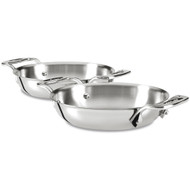 """All Clad Stainless 6"""" Gratin Set"""