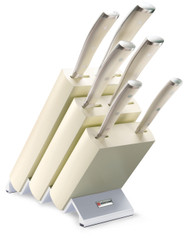 Wusthof Classic Ikon 7pc Knife Block Set Creme